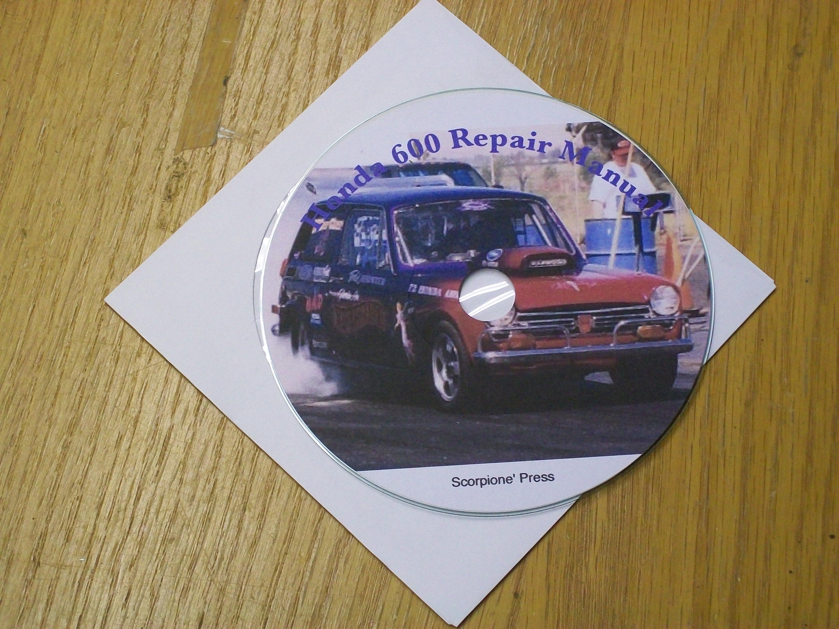 Repair Manual Honda N600 Sedan Z600 Coupe Car Parts AN600 AZ600Honda 600 Car Parts