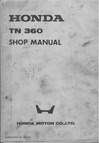Honda TN360 Repair Manual Cover